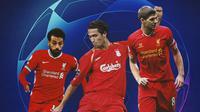 Liverpool - Mohamed Salah, Luis Garcia, Steven Gerrard (Bola.com/Adreanus Titus)