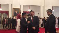 Idrus Marham resmi menjabat Menteri Sosial gantikan Khofifah Indar Parawansa (Liputan6.com/Lizsa)