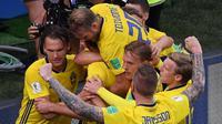 Kemenangan 1-0 atas Korea Selatan menjadi yang pertama diraih Swedia pada laga pembuka Piala Dunia setelah terakhir kali diraih pada 1958. AFP/Dimitar Dilkoff)