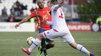 Gelandang Santi Cazorla memperkuat Timnas Spanyol melawan Kepulauan Faroe pada kualifikasi Piala Eropa 2020. (AFP/Javier Soriano)