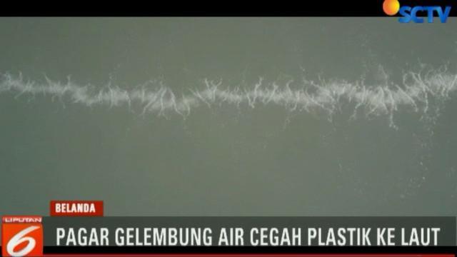 Untuk mencegah masuknya sampah ke laut, beberapa percobaan dilakukan di Belanda dengan menggunakan gelembung udara.