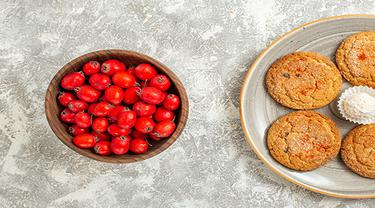 Ilustrasi cranberry cookies