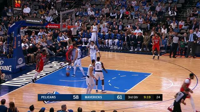 Dirk Nowitzki mengoper Wilt Luka Doncic mencatatkan triple-double tetapi Mavericks jatuh pada perpanjangan waktu untuk Pelicans dipimpin oleh triple-double Elfrid Payton.