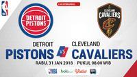 Detroit Pistons Vs Cleveland Cavaliers_2 (Bola.com/Adreanus Titus)