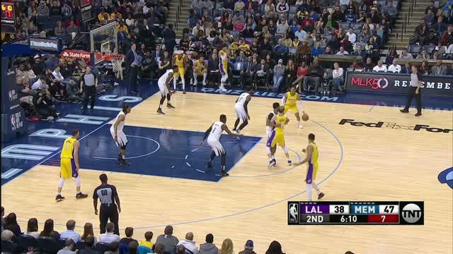 Berita video game recap NBA 2017-2018 antara Memphis Grizzlies melawan LA Lakers dengan skor 123-114.