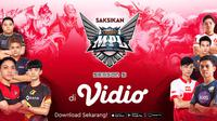 Mobile Legends Professional League (MPL) Indonesia Season 5 Dapat Disaksikan Hanya di Vidio. sumberfoto: Vidio