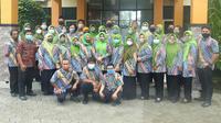 Para guru SMP N 5 Negeri Blora. (Liputan6.com/ Ahmad Adirin)