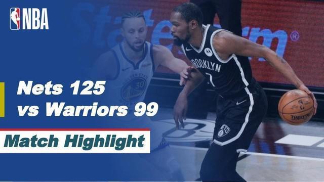 Berita video, Brooklyn Nets berhasil membuka kemenangan di laga perdana NBA 2020/2021 melawan Golden State Warriors