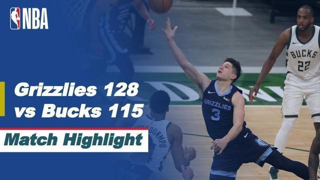 Berita Video Milwaukee Bucks Telan Kekalahan Saat Melawan Memphis Grizzlies di NBA Hari Ini