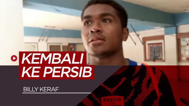 Berita video gelandang Billy Keraf kembali berlatih bersama Persib Bandung.