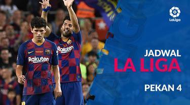 Berita video jadwal La Liga 2019-2020 pekan ke-4. Barcelona hadapi Valencia di Camp Nou, Minggu (15/9/2019).