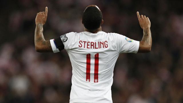 Winger timnas Inggris, Raheem Sterling.