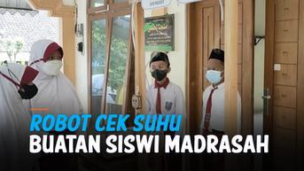 VIDEO: Keren! Siswi Madrasah di Boyolali Rakit Robot Lawan Covid-19