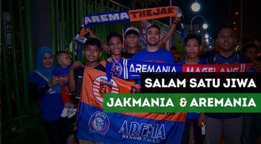Berita video jelang pertandingan Persija Vs Arema, salam satu jiwa dari Jakmania dan Aremania