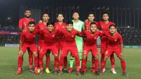 Timnas Indonesia U-22. (Bola.com/Zulfirdaus Harahap)