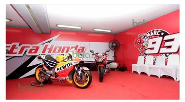 Motor baru Marc Marquez untuk MotoGP musim 2016 diperkenalkan di Sirkuit Sentul, Jawa Barat, Indonesia.