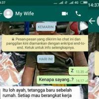Awalnya sang istri berharap suaminya bisa seperti suami tetangga yang romantis, tapi hasilnya… (Foto: Twitter)