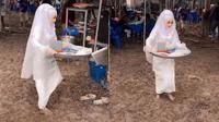 Viral Pengantin Bereskan Sendiri Piring Kotor Bekas Tamu di Hari Pernikahannya (Sumber: prince_grapes)
