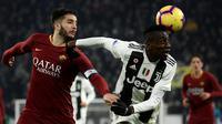 AS Roma menelan kekalahan 0-1 dari Juventus pada laga pekan ke-17 Serie A musim ini di Allianz Stadium, Sabtu (22/12/2018) malam waktu setempat. (AFP/Filippo Monteforte)