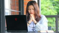 Meski dilakukan secara daring, ibadah Jumat Agung tetap dilaksanakan secara khusyuk.