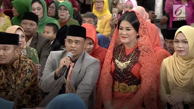 Pesta Adat Kahiyang-Bobby dihadiri oleh beragam lapisan masyarakat. Bobby Nasution menyampaikan pesan kepada para tamu yang datang.