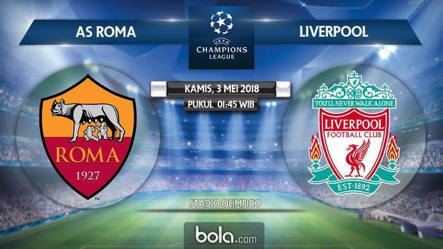 Nonton Live Streaming Liga Champions Sctv As Roma Vs Liverpool Dunia Bola Com