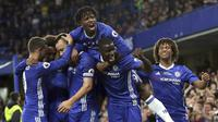 Para pemain Chelsea merayakan gol ke gawang Watford (AP Photo/Tim Ireland)