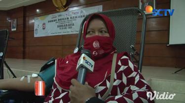 Unit Transfusi Darah di Kota Surabaya sejak pagi dikunjungi warga dengan berniat mengikuti kegiatan sosial donor darah yang digelar Yayasan Pundi Amal Peduli kasih SCTV INDOSIAR bekerja sama dengan PMI Surabaya.
