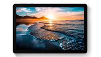 Tampilan tablet MatePad T10s yang baru saja diluncurkan. (Liputan6.com/Agustinus M. Damar)