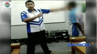 Seorang oknum guru sekolah menengah kejuruan (SMK) di Kota Purwokerto, Jawa Tengah, memukul sejumlah muridnya dengan dalih untuk pembinaan karena kerap membolos.