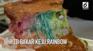 Menyambut Paskah, toko roti di Inggris membuat menu baru, yakni roti bakar keju rainbow.