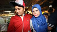 Indra Bekti dan istri, Aldilla Jelita [Foto: Immanuel Antonius/Liputan6.com]
