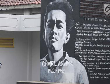 Sambut Hari Pahlawan, Mural Tokoh Seniman Hiasi Taman Ismail Marzuki
