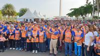 Ikatan alumni UNDIP bersama Kementerian Kelautan dan Perikanan (KKP) menyelenggarakan acara Ayo Jalan Sehat, Ayo Makan Ikan di Monas. (Istimewa)