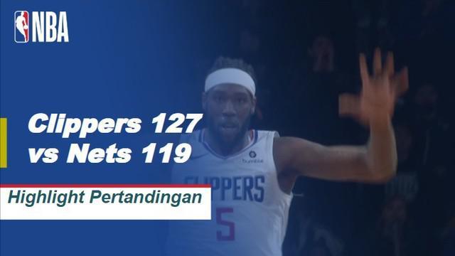 Danilo Galinari mencetak 28 poin, Tobias Harris menambah 27 poin dan delapan rebound ketika Clippers memuncaki Nets, 127-119.