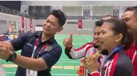Greysia / Apriyani mendapatkan video call dari Jokowi usai memenangkan emas di Olimpiade Tokyo 2020 (istimewa)