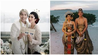 Potret 6 Pasangan Seleb Saat Menikah Pakai Busana Adat Jawa, Memukau