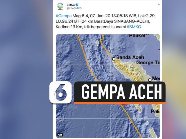Video Gempa 6 4 Magnitudo Guncang Sinabang Aceh News Liputan6 Com