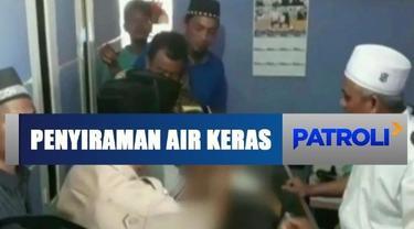 Polisi bekuk dua pelaku penyiraman air keras ke guru ngaji di Teluknaga, Tangerang.
