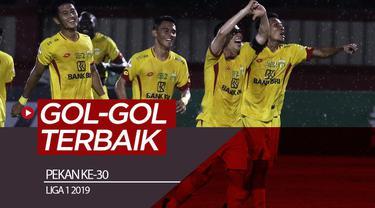 Berita video gol-gol terbaik yang tercipta pada pekan ke-30 Shopee Liga 1 2019.