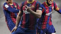 Andre Silva, Sergio Aguero dan Donyell Malen. (Bola.com/Dody Iryawan)