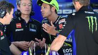 Valentino Rossi sudah tiga kali menjadi juara di MotoGP Belanda pada tiga balapan terakhir (Lluis Gene/AFP)