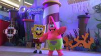 Bertemu dengan Spongebob Squarepants dan Patrick di Pluit Village (Liputan6.com/Novi Nadya)