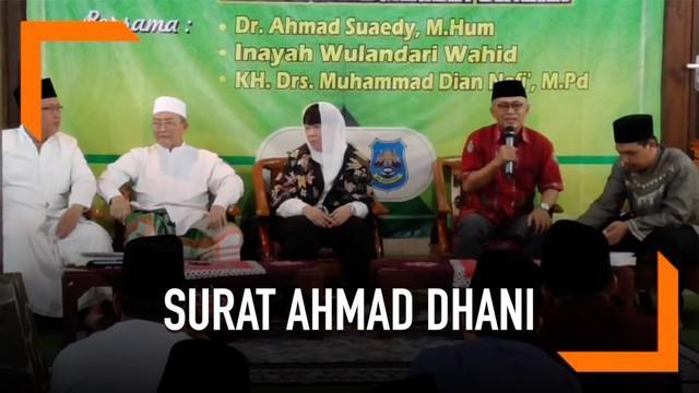 Terkait surat Ahmad Dhani, menurut Inayah Wahid, banyak orang yang mengaku-ngaku  dekat dengan sosok ayahnya, Gus Dur.