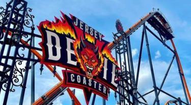 Taman Hiburan di AS Luncurkan Roller Coaster Setinggi Gedung 13 Lantai