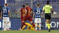 Duel seru Serie A antara AS Roma melawan Inter Milan (AP)