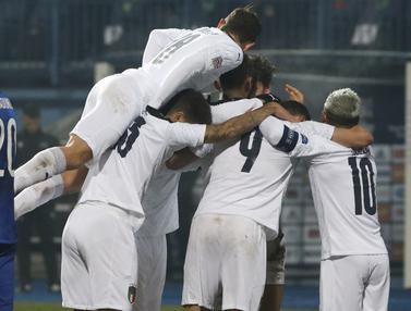 Hajar Bosnia 2-0, Italia Lolos ke Semifinal UEFA Nations League
