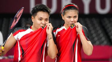 Foto: Singkirkan Ganda Korea Selatan, Greysia Polii/ Apriyani Rahayu Ukir Sejarah Lolos ke Final Olimpiade Tokyo 2020