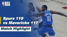Berita video highlights NBA pertandingan antara San Antonio Spurs melawan Dallas Mavericks yang berakhir dengan skor 119-117.