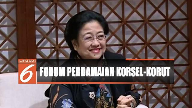 Mega dijadwalkan menjadi pembicara dalam DMZ International Forum On The Peace Economy yang berlangsung 28-29 Agustus 2019.